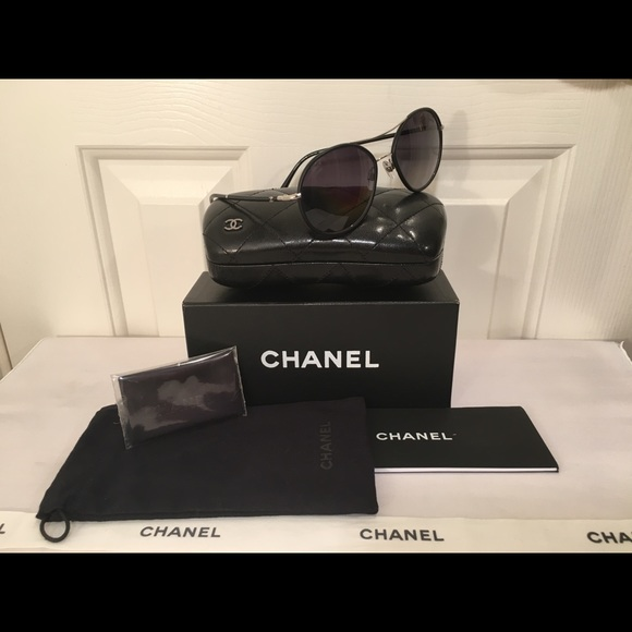 6dae87405d611 🖤CHANEL  690. New style round Aviator  4228-Q NEW